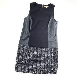 Michael Kors | Panel Shift Dress Black Tweed